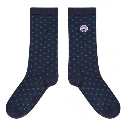 SOCKS - Les Lucas Navyblue - Navyblue socks with dots