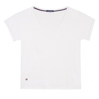 SOLDES - La Martha Ecru - T-shirt écru à col v
