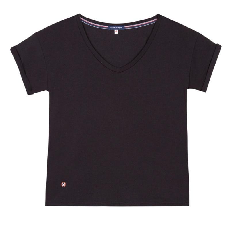 la martha schwarzes t shirt mit v ausschnitt le slip. Black Bedroom Furniture Sets. Home Design Ideas