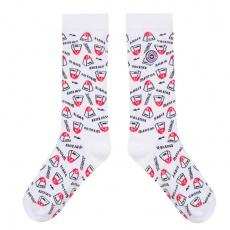 Les Lucas Kilomètres - Weiße Socken mit Muster