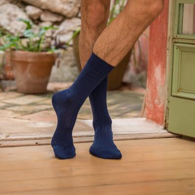 SOCKEN - Les Nessy Indigo - Indigoblaue Socken