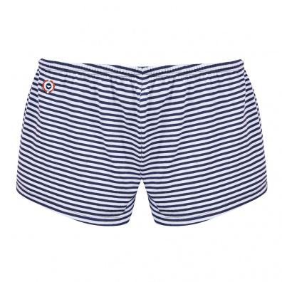 GESCHENKIDEEN - La Pio Gestreift - Marineblau gestreifte Shorts