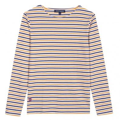 T-SHIRTS - Le Malo Saffron - Striped t-shirt
