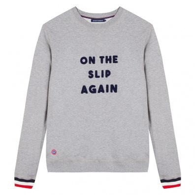 SWEAT-SHIRTS - LE ROBIN ON THE SLIP AGAIN - Grey sweatshirt