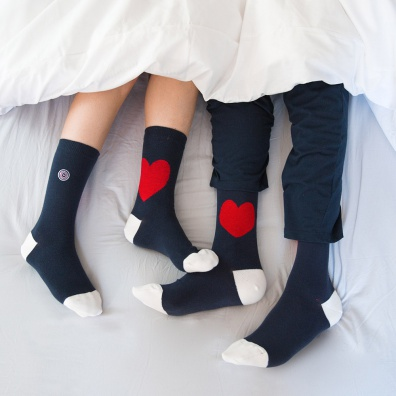 GIFT IDEAS - Duo Pack socks heart - Two pairs of socks in two different sizes