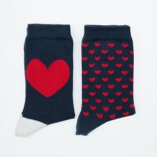 Les Lucas Duo Bonjour Mon Amour et Coeur - Pack de deux paires de chaussettes
