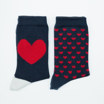 GIFT IDEAS - Duo Lucas Hearts - 2 pairs of socks with different pattern