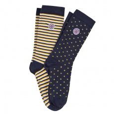 Les Lucas Duo saffronyellow - 2 pairs of socks