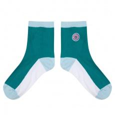 Les Lucie emerald green - Emerald green socks
