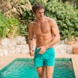 Le Capitaine Emerald - Emeraldgreen swim shorts