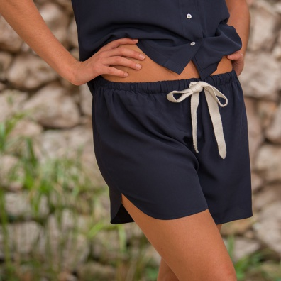 Vêtements Femme - La Edith Marine - Short fluide marine
