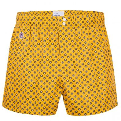 BOXER SHORTS - Le Jacques Saffron - Saffron boxershort with pattern