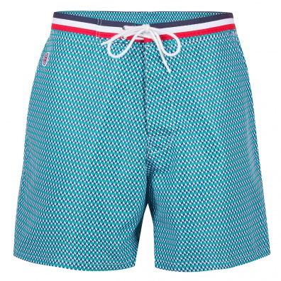 SWIM WEAR - Le moussaillon CUBES - Long swim short with pattern