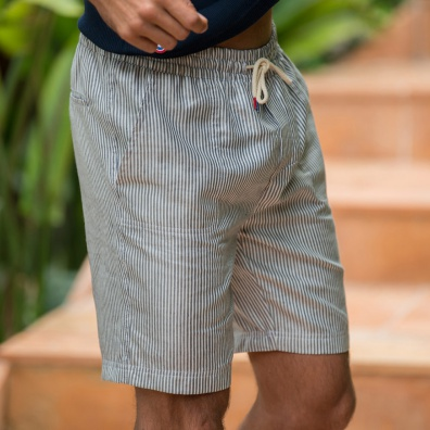 Shorts et bermudas - Le Raymond Rayé - Bermuda rayé bleu