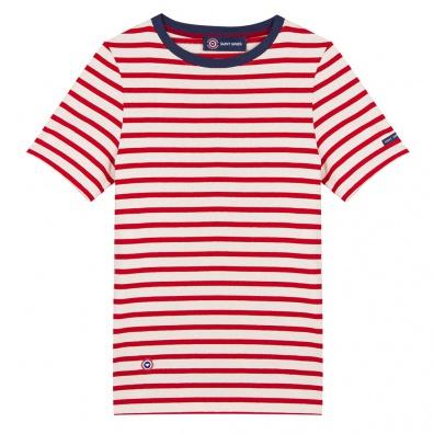T-Shirts Homme - Le Maël - Marinière mixte rouge Saint James x LSF