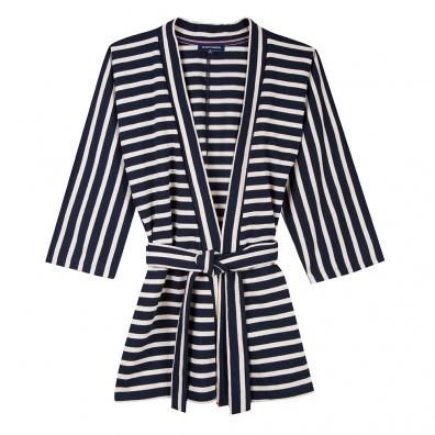 For Her - La Victoria Striped - Striped kimono