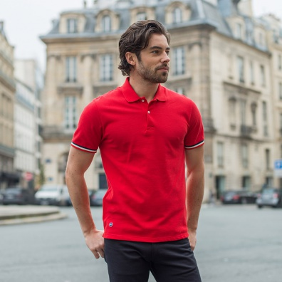 Polos Homme - Le Polo Rouge - Polo piqué rouge
