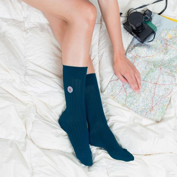 Halbhohe Socken aus merzerisierter Baumwolle