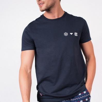 Pyjama shirts - Le Jean Flocon - Navyblue T-shirt