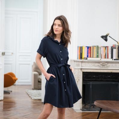 Vêtements Femme - La Margaux Marine - Robe chemise marine