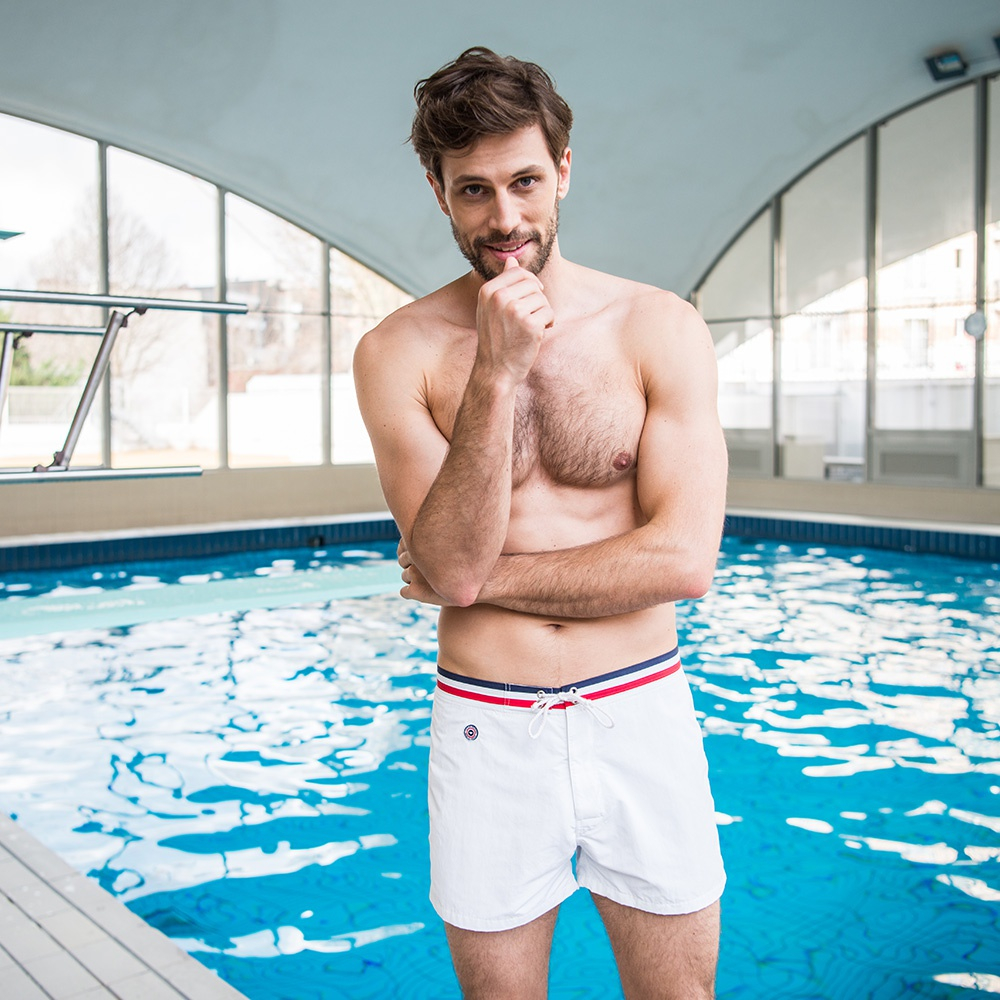 Le Capitaine - Short de Bain Blanc
