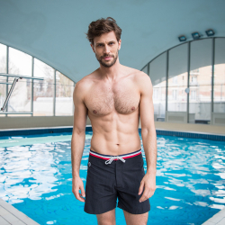 Le Capitaine - Long black swim short