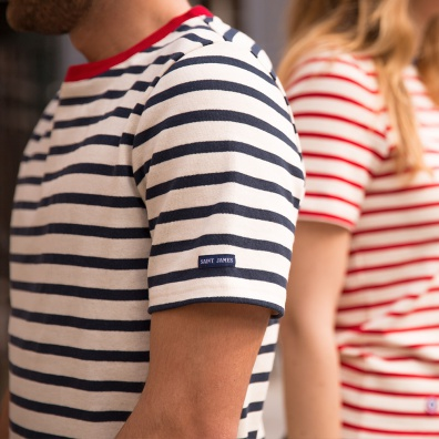 For Him - Le Jean Lou Navyblue - Striped t-shirt LSF x Saint James