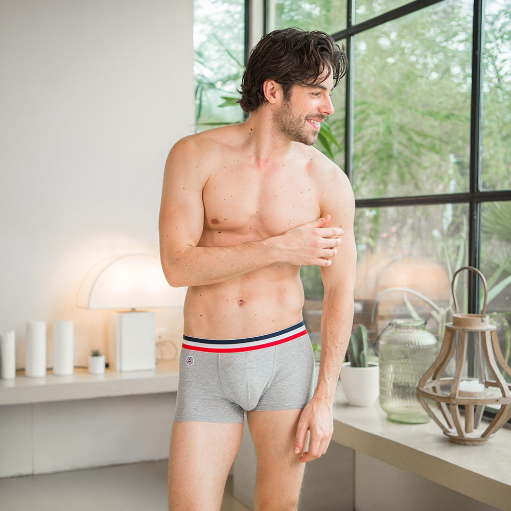 The Lucien - Grey Marle Boxer Briefs