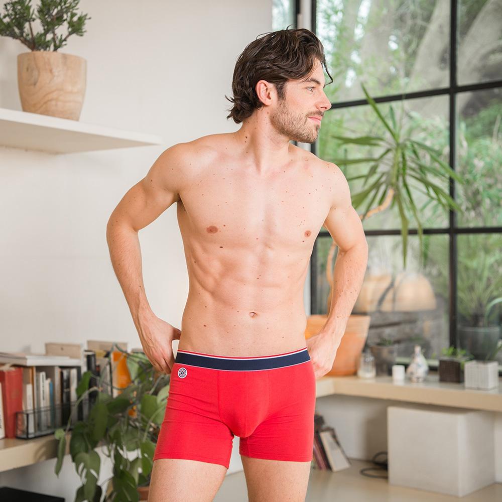 Le Michel long - Boxer long rouge