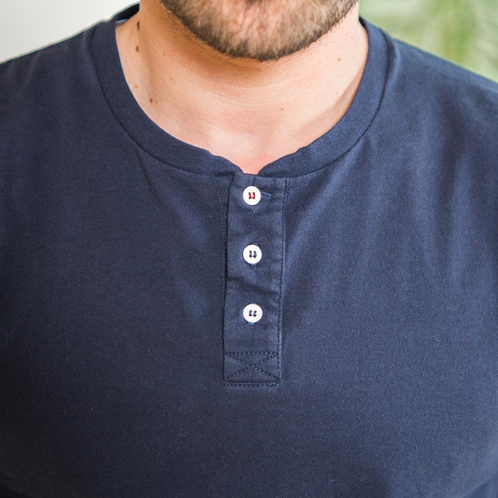 Le Matthieu - T-shirt tunisien bleu marine
