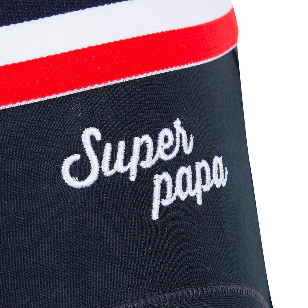 Le terrible brode BLEU SUPER PAPA - Slip BLEU SUPER PAPA