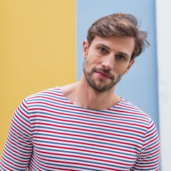 SHIRTS - Le Malo - Blau-Weiß-Rot gestreiftes Langarmshirt