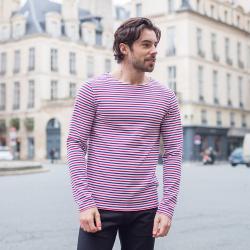 T-Shirts Homme - Le Malo BBR - T-shirt marinière bleu blanc rouge