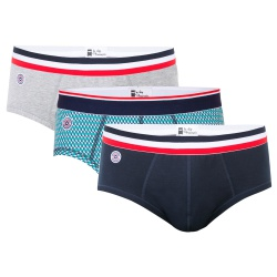 GIFT IDEAS - Le terrible trio - Trio briefs grey, blue and with pattern