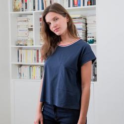 La Ines - T-shirt à poche marine