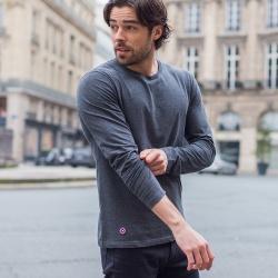 Vêtements Homme - Le Damien Anthracite - T-shirt manches longues anthracite