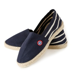 ACCESSOIRES - Les Pilat Navyblue striped - Navyblue Espadrilles with stripes