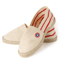 ACCESSORIES - Les adour beige with stripes - Striped Espadrilles