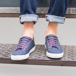 Les Tennis Marine - Chaussures Basket à lacets marines