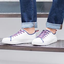 Les Tennis Blanc - Chaussures Baskets à lacets blanches