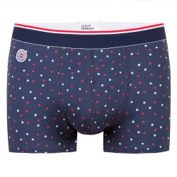 Underwear for Him - Le Marius Little Dots - Navyblue boxer brief with dots