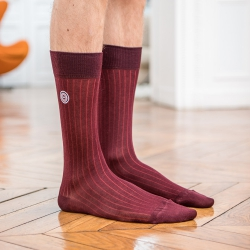 SOCKS - Les nessy Plum - Plum scottish thread socks