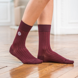 Les nessy Plum - Plum scottish thread socks