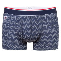 Underwear for Him - Le ferdinand CHEVRONS NAVY - Navyblue boxer brief with pouch