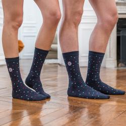 Les lucas petits pois - Chaussettes coton imprimées
