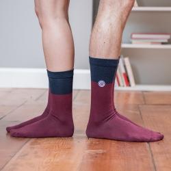 SOCKEN - Les lucas Pflaume/Blau - Zweifarbige Socken