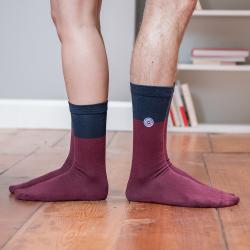 Les lucas Pflaume/Blau - Zweifarbige Socken