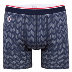 Le michel CHEVRONS Navy - Long navyblue boxer brief with pattern