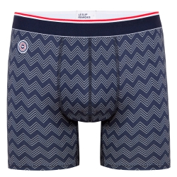 BOXER BRIEFS - Le michel CHEVRONS Navy - Long navyblue boxer brief with pattern