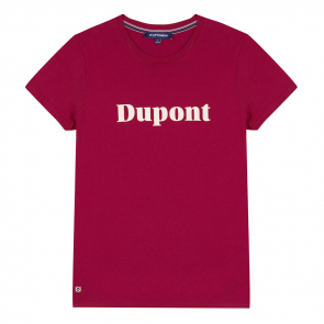 Plum t-shirt with screen printing